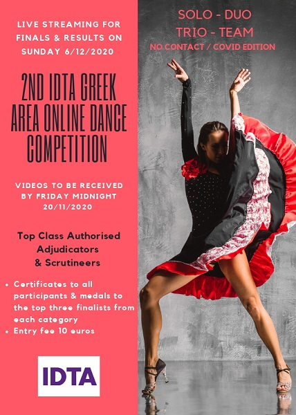 2ND IDTA GREEK AREA ONLINE DANCE COMPETITION