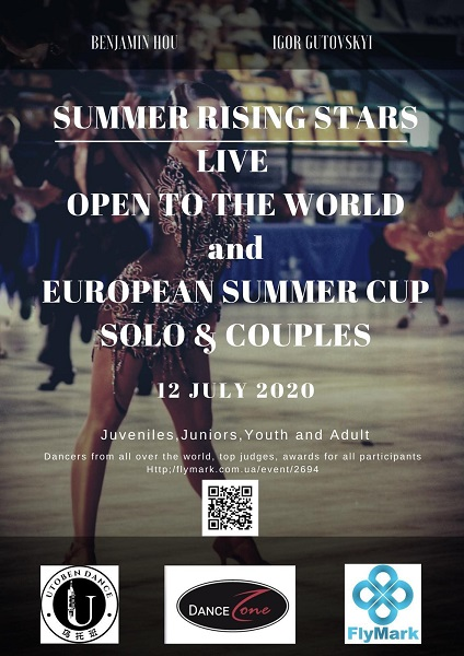 Summer Rising Stars Live OPEN to The World and  European Summer Cup. Solo & Couples