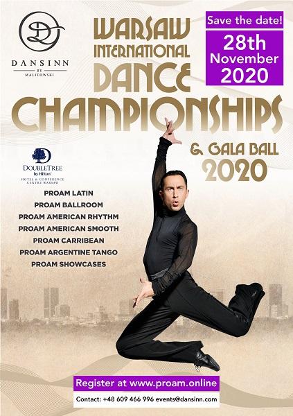 WARSAW INTERNATIONAL DANCE CHAMPIONSHIPS & GALA BALL 2020