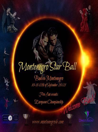 MONTENEGRO STAR BALL & EUROPEAN DANCE CHAMPIONSHIP for Pro-Am, Professionals & Amateurs