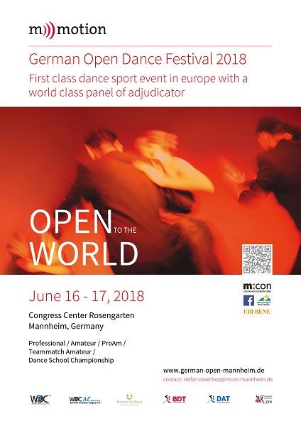 GERMAN OPEN DANCE FESTIVAL 2018